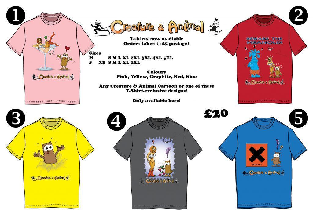 Creature & Animal Tshirts Tees T-shirts