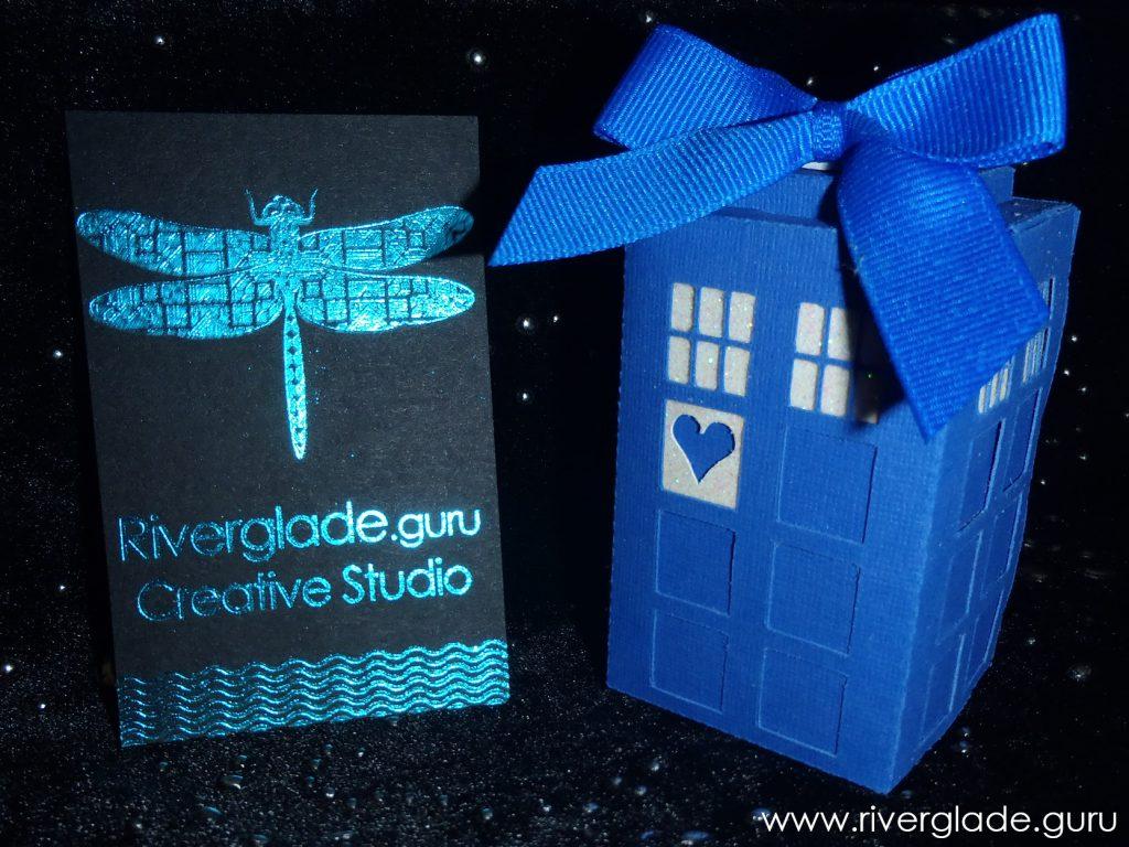 TARDIS wedding favour box www.riverglade.guru