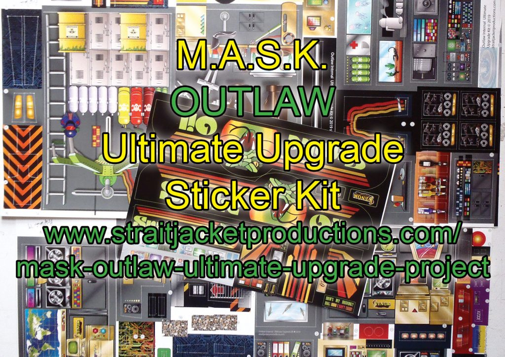 MASK M.A.S.K. Kenner Outlaw Ultimate Upgrade Stickers Label Decal Kit