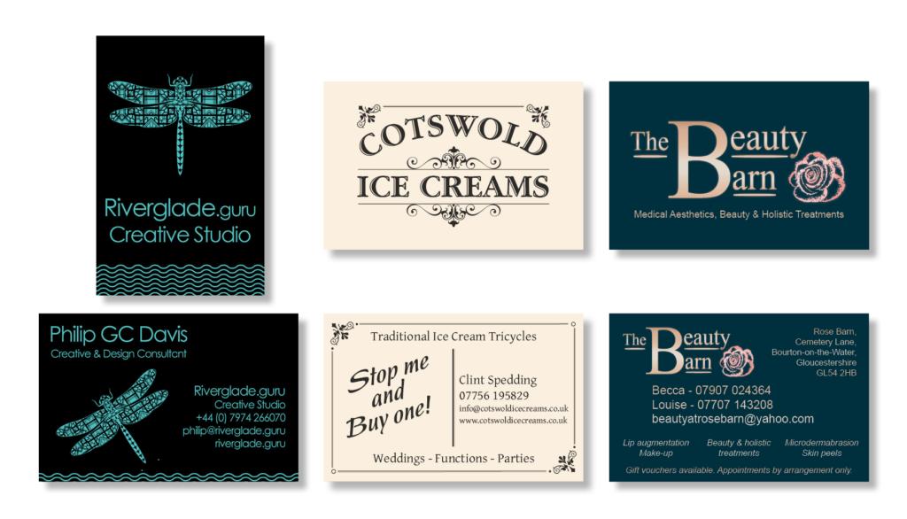 Business cards designed by Philip GC Davis www.riverglade.guru
