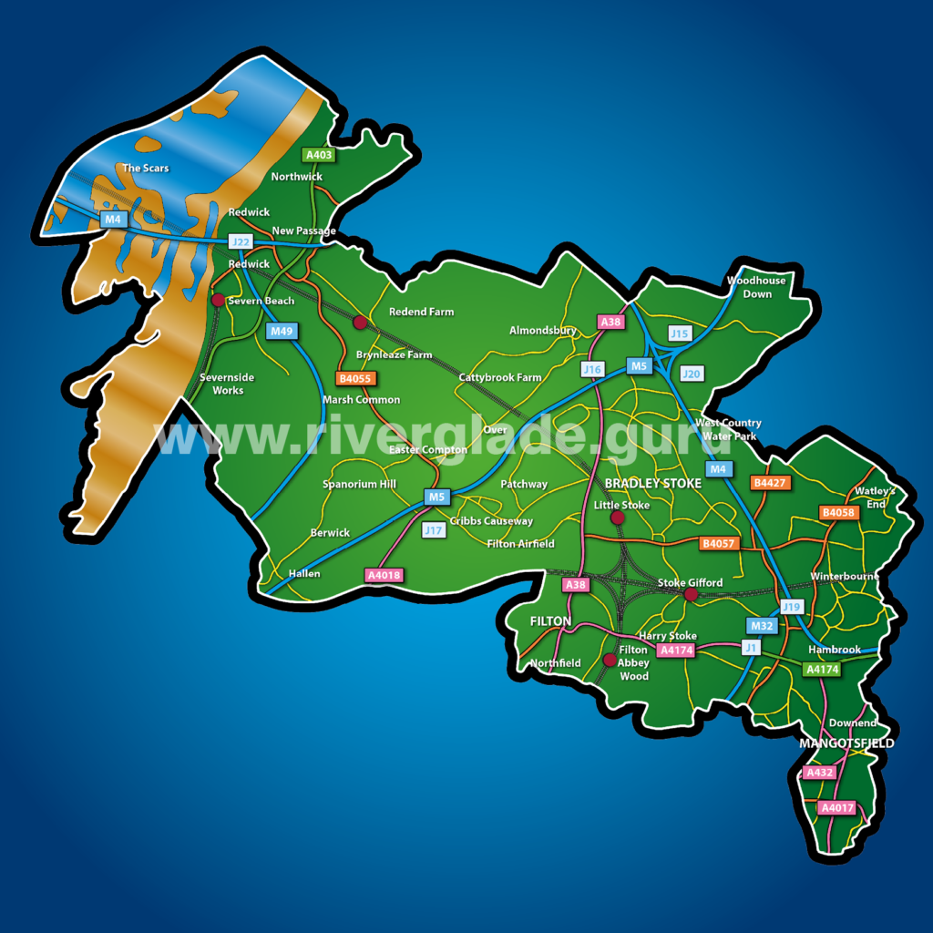 Map drawn by Philip GC Davis www.riverglade.guru