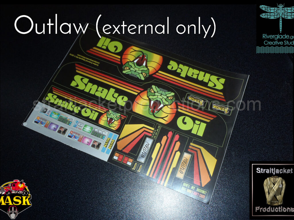Outlaw External Stickers with stock Billboard Blast internal upgrade stickers