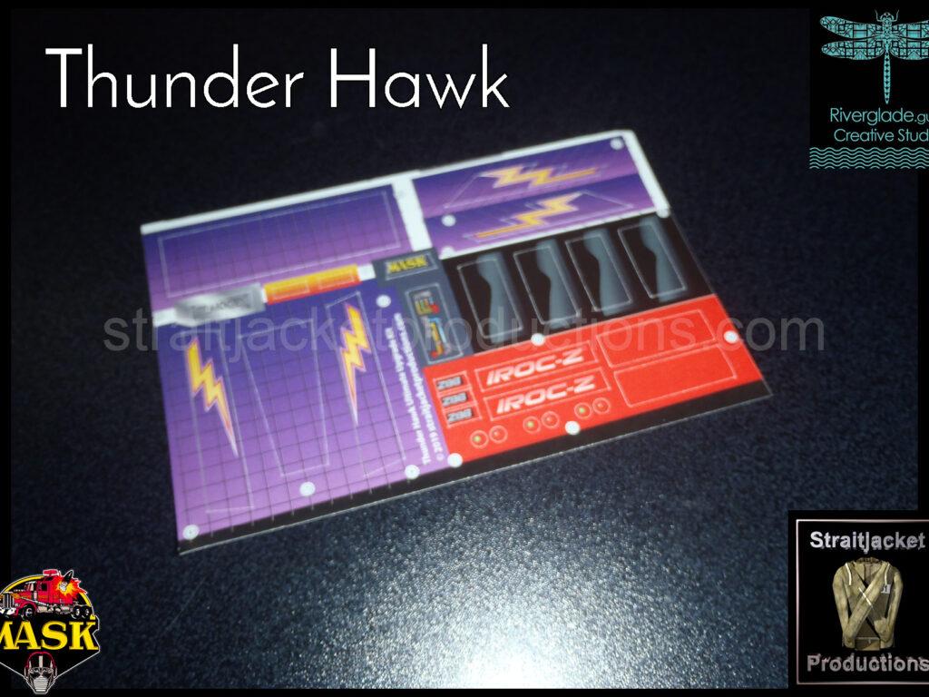 MASK M.A.S.K. Kenner Thunder Hawk Thunderhawk Ultimate Upgrade Sticker Label Decal Kit
